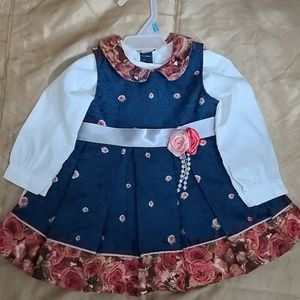 Dress baby girl formal dress new with tag
